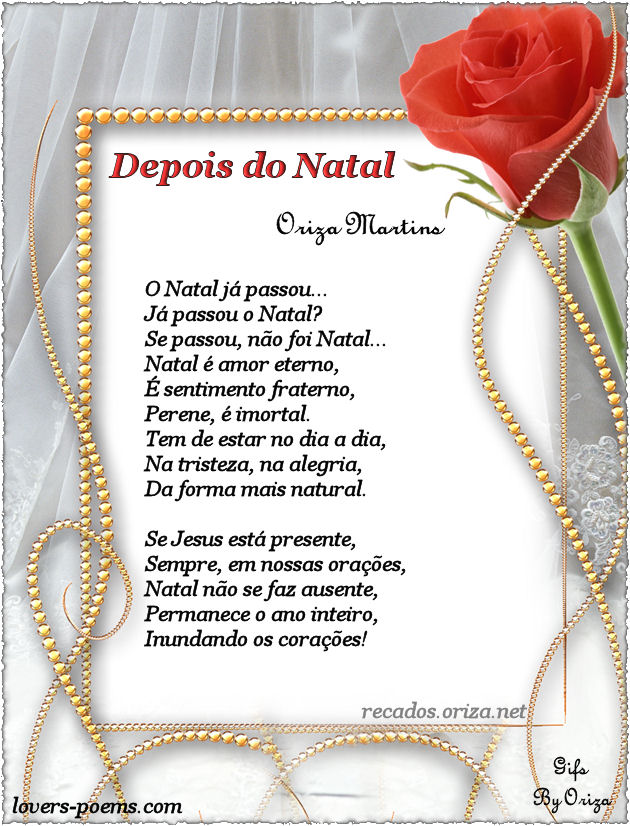 Depois do Natal - poema de Oriza Martins